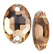 Swarovski Oval 3210 - Light Colorado Topaz, 10x7 мм, 1 шт.
