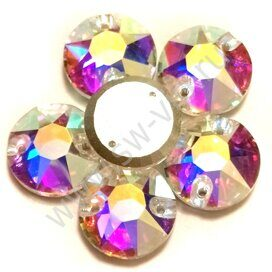 Favorit Rivoli A328 - Crystal AB, 8mm, 84pcs