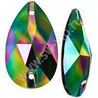 Swarovski Drop 3230 - Crystal Rainbow Dark, 28x17 мм, 1 шт.