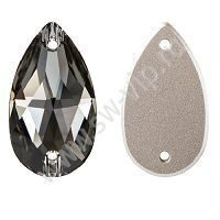 Swarovski Drop 3230 - Black Diamond, 12x7 мм, 1 шт.