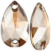 Swarovski Drop 3230 - Crystal Golden Shadow, 12x7 мм, 96 шт.