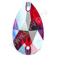 Swarovski Drop 3230 - Light Siam Shimmer, 18x10,5 мм, 1 шт.
