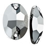 Swarovski Oval 3210 - Crystal Light Chrome, 10x7 мм, 1 шт.